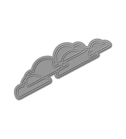 WPlus9 Design Studio - CLOUD BORDER Die - Hallmark Scrapbook
