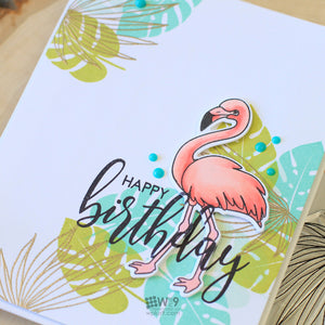 WPlus9 Design Studio - BIRTHDAY WISHES Clear Stamps set