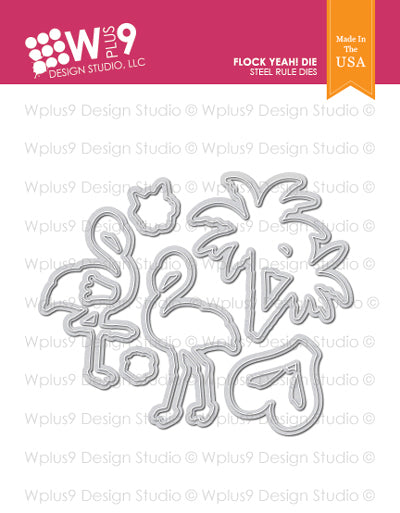 WPlus9 Design Studio - FLOCK YEAH! Dies Set