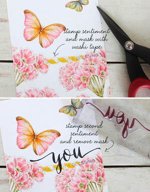 WPlus9 Design Studio - HAND LETTERED THANKS Stamps - Hallmark Scrapbook - 5