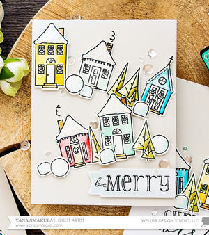 WPlus9 Design Studio - HOLIDAY HOUSES Dies set - Hallmark Scrapbook - 4
