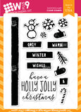WPlus9 Design Studio - HOLLY JOLLY Stamps