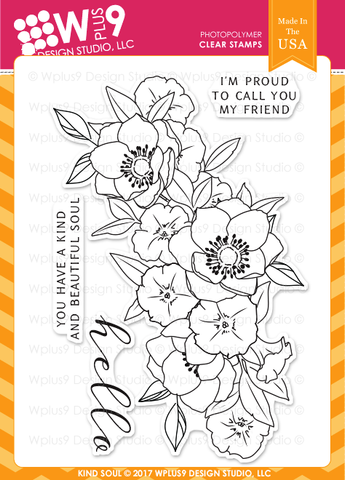 WPlus9 Design Studio - KIND SOUL Stamp Set