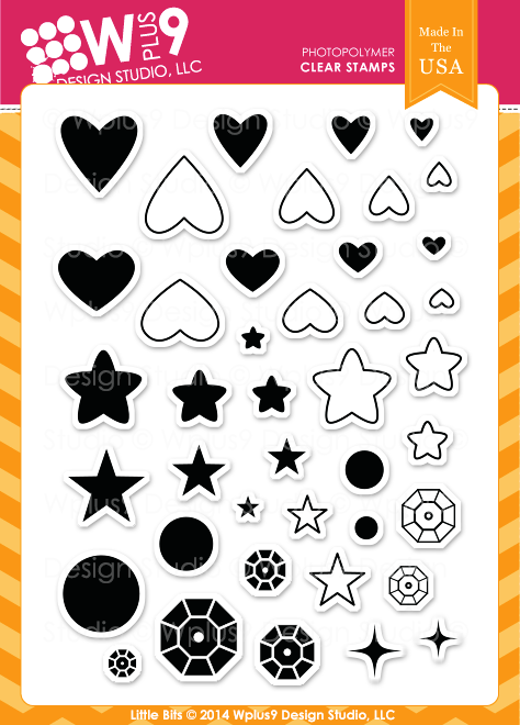 Wplus9 Design Studio - LITTLE BITS Stamp set