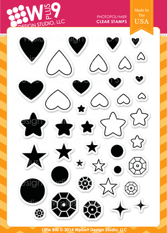 Wplus9 Design Studio - LITTLE BITS Stamp set - Hallmark Scrapbook - 1