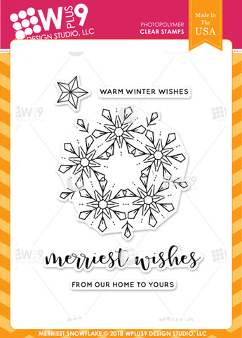 WPlus9 Design Studio - MERRIEST SNOWFLAKE Stamp