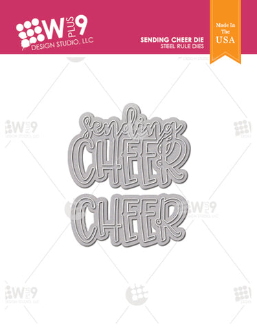 WPlus9 Design Studio - SENDING CHEER Die