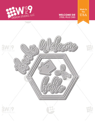 WPlus9 Design Studio - WELCOME WREATH - Die Set