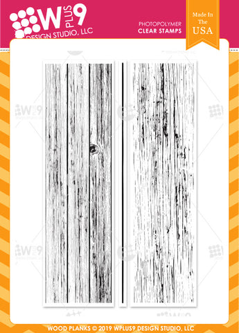 WPlus9 Design Studio - WOOD PLANKS - Stamp Set