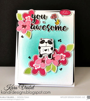 WPlus9 Design Studio - YOU EQUAL KIND Stamp set - Hallmark Scrapbook - 2