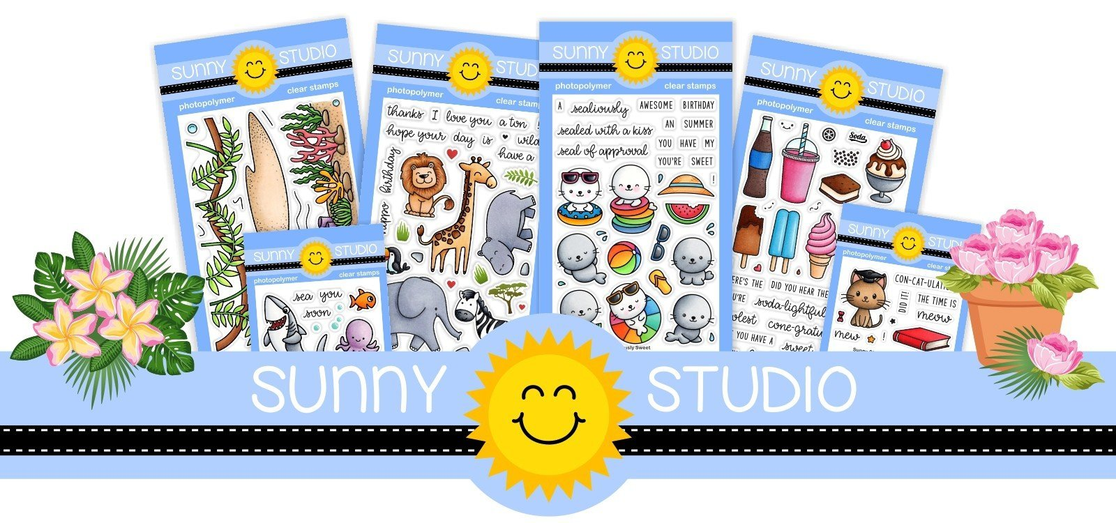 New Release Sunny Studio Stamps and Dies