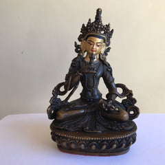 Vajrasattva 6 Inch Copper Statue with Painted Gold Face
