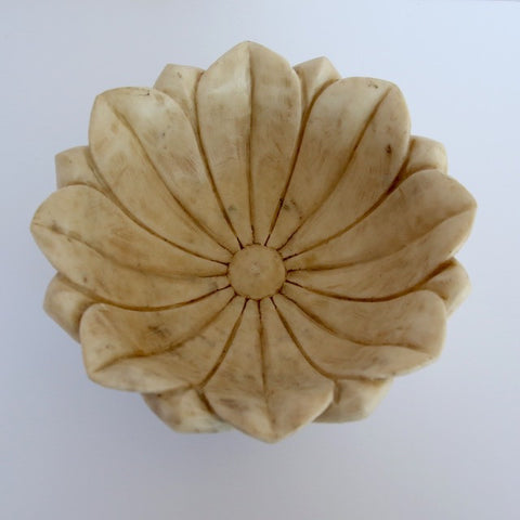 Large Marble Lotus Bowl