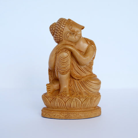 Wooden Thai Relaxing Buddha