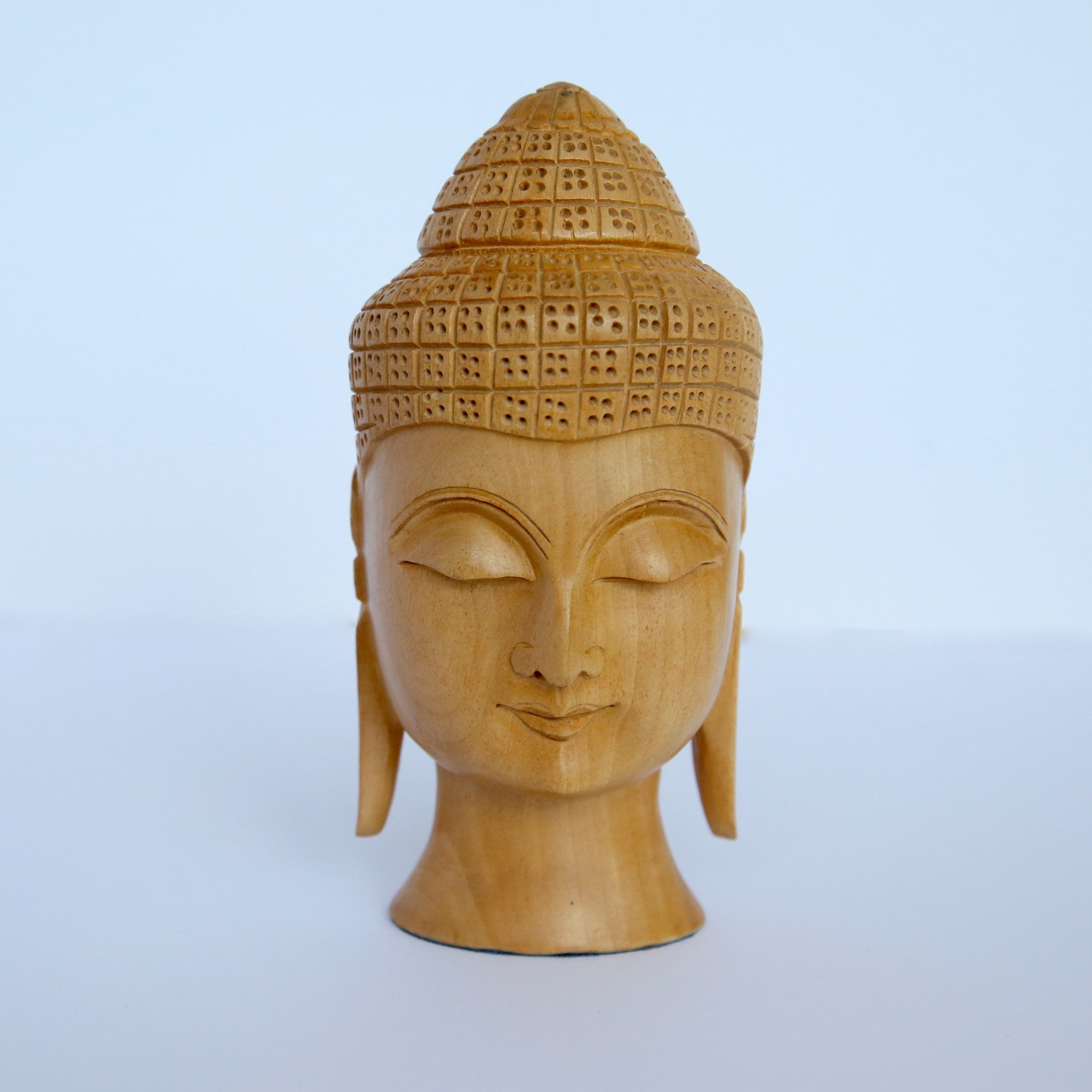 Wooden Thai Buddha Head