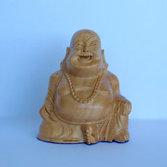 Wooden Chinese Sitting Buddha