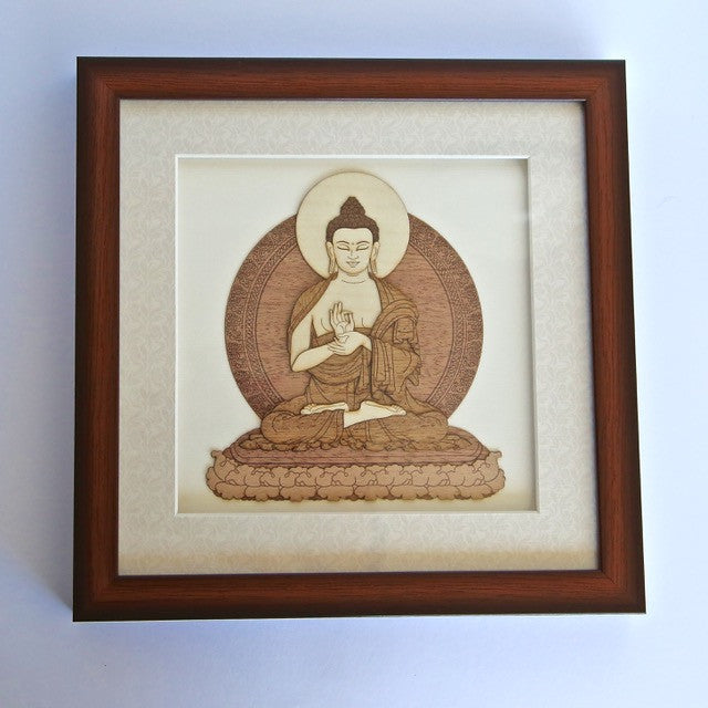 Wood Framed Buddha