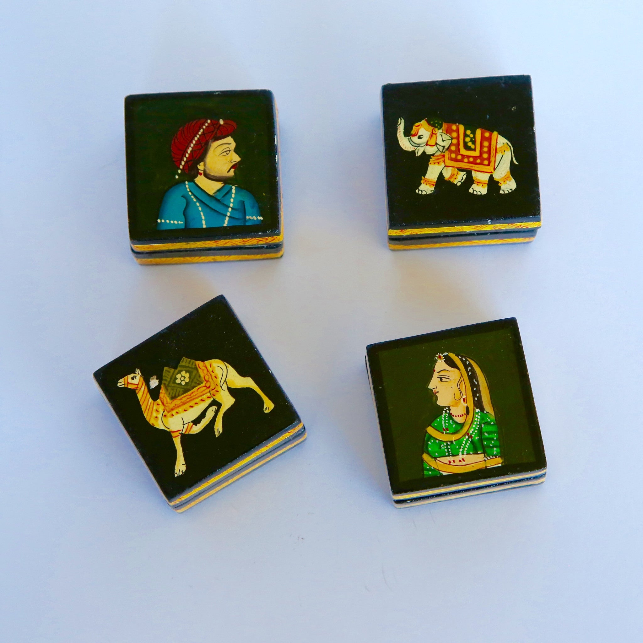 Hand-painted and Laquered Decorative Boxes