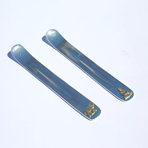 Silver Metal Long Incense Holder
