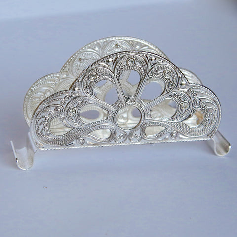 Silver Metal Serviette Holders