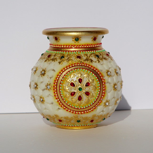 Marble-Cut Lota (water pot/vase)