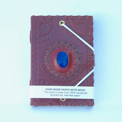 Hand-Made Paper Notebooks - Embossed Leather Cover