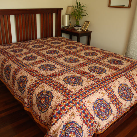 Rajasthani Mirror Style Bed Covers - Super King Size