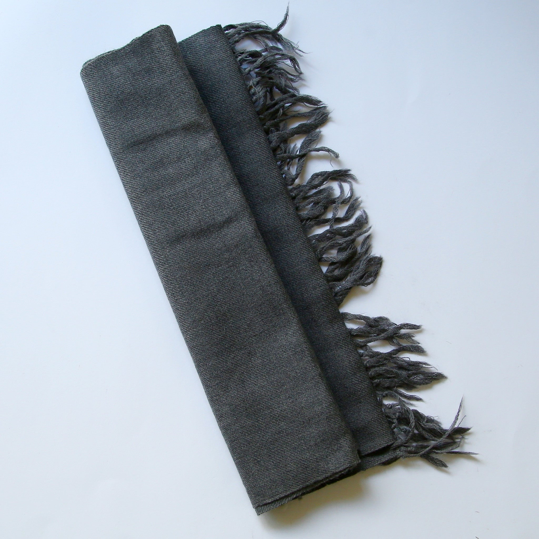 Kullu Wool Scarf - Grey