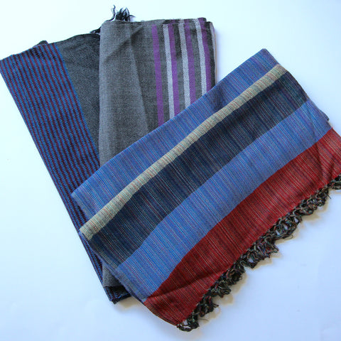 Kullu Wool Scarves - Patterned Lines