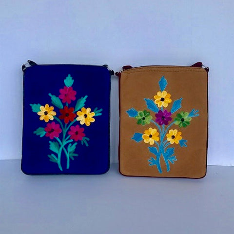 Embroidered Cross Body Bags