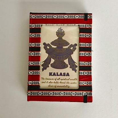 Tibetan Handmade Notebook with Auspicious Symbols