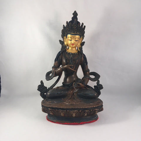 Vajrasattva 8.25 Inch Copper Statue with Painted Gold Face