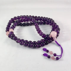 Amethyst Mala - High Quality by Sacred Treasures