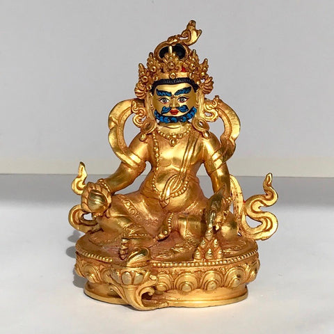 Bearded Dzambala 6 Inch Gold Statue