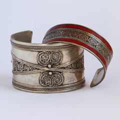 Wide-band Filigree Bracelets - Tibetan style