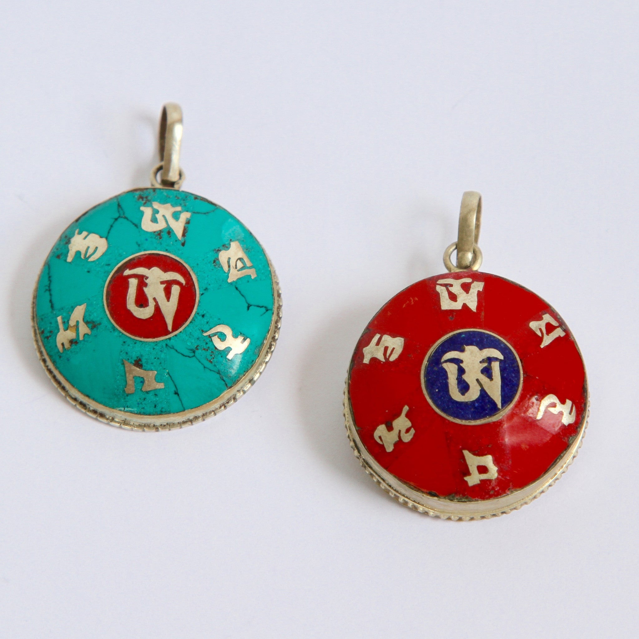 OM with the Mantra of Compassion - Pendant or Gau