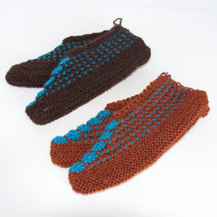 Himalayan Hand-Knitted Slip-On Woollen Socks