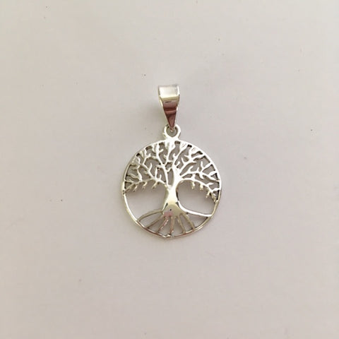 Sterling Silver Small Round Tree of Life Pendant