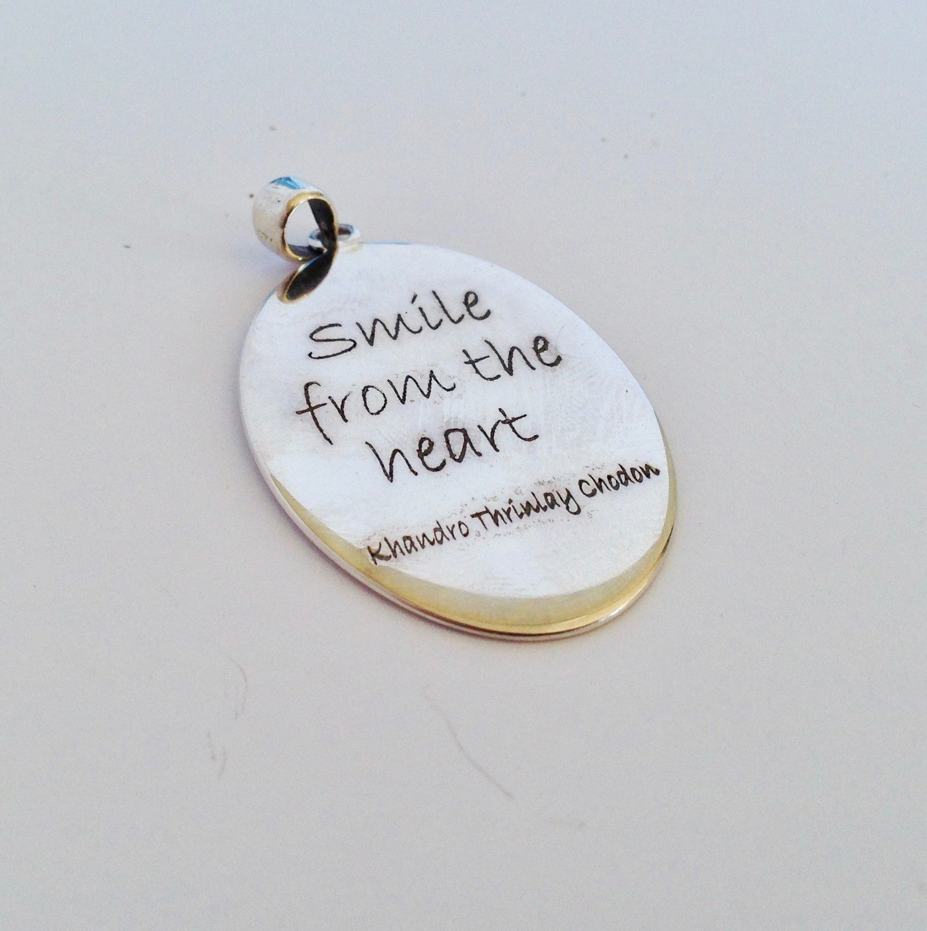 "Pure Silver ""Smile from the Heart"" Pendant - Sacred Treasures"