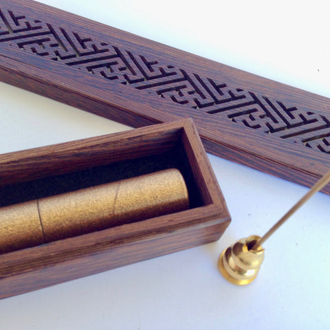 Agarwood Incense Sticks, Box and Metal Holder