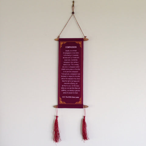 Wall Hangings - HH Dalai Lama Quotes - Small