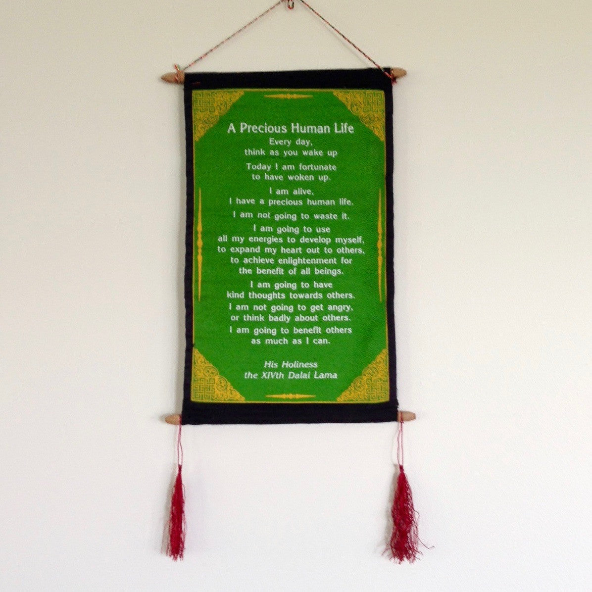Wall Hangings - HH Dalai Lama Quotes - Large