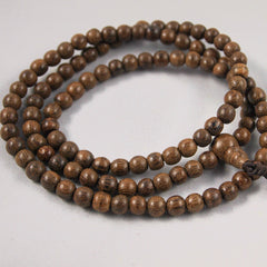 Indonesian Red Soil Pure Agarwood Mala (108 beads)