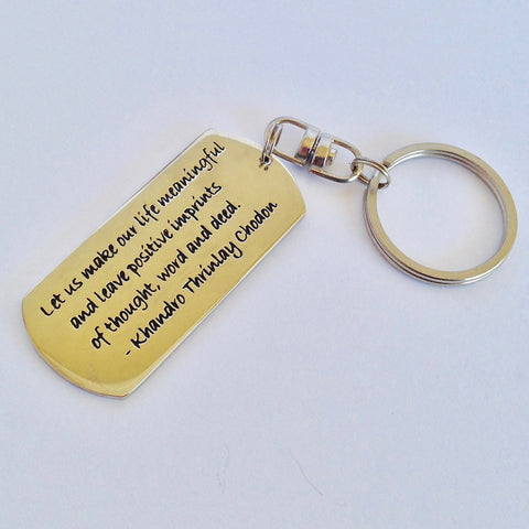 Sacred Treasures Keyring - Make your Life Meaningful