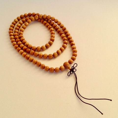 Sacred Treasures Pure Indian Sandalwood Mala (108 beads)