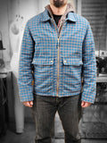 SE6 Teal/Gray Cotton Flannel Jacket