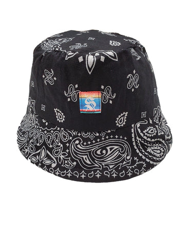 Black Bandana Reversible Bucket Hat
