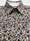 Navy/Red Floral Button Up Shirt