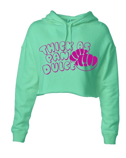 Thick as Pan Dulce Crop Hoodie