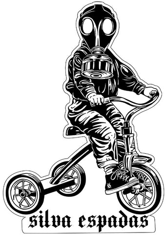 Gas Mask Boy Sticker